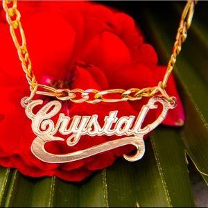 Jewelry - Custom Name Necklace 14K Gold Nombre Con Cadena